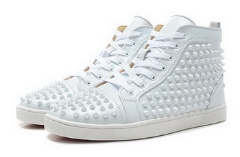Christian Louboutin Louis Spikes Mens Flap CL736 White