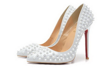 Christian Louboutin PIGALLE SPIKES 120mm CL1316 White