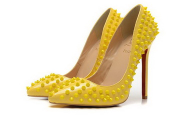 Christian Louboutin PIGALLE SPIKES 120mm CL1316 Yellow