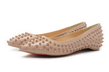 Christian Louboutin PIGALLE SPIKES Flat CL1329 Apricot