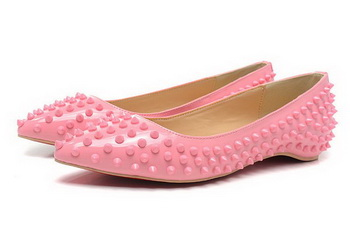 Christian Louboutin PIGALLE SPIKES Flat CL1329 Pink