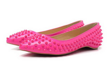 Christian Louboutin PIGALLE SPIKES Flat CL1329 Rose