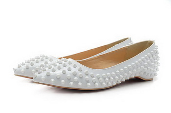 Christian Louboutin PIGALLE SPIKES Flat CL1329 White