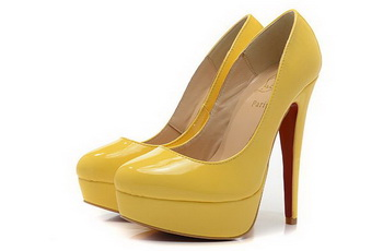 Christian Louboutin Patent Leather Platform Pump CL1338 Yellow