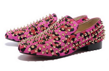 Christian Louboutin Rollerboy Spikes CL745 Rose