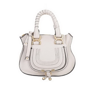 Chloe Marcie Small Shoulder Bag Calfskin 166325 OffWhite