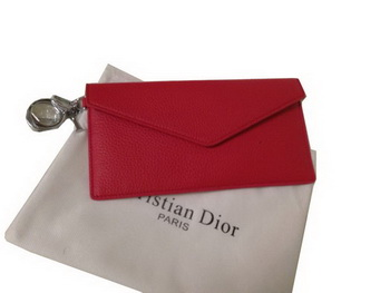 Dior Grainy Leahter Bi-Fold Wallet M550 Red