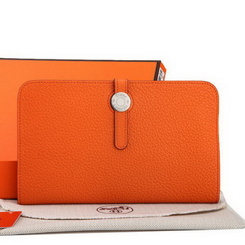 Hermes Dogon Combined Wallet A508 Orange