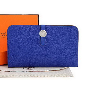 Hermes Dogon Combined Wallet A508 RoyalBlue