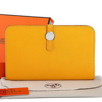 Hermes Dogon Combined Wallet A508 Yellow