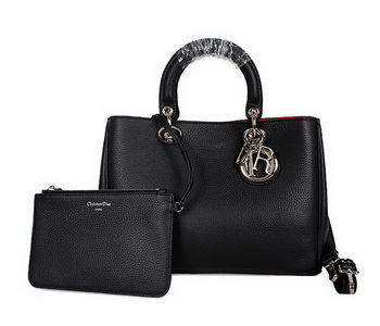Dior Diorissimo Bag in Nappa Leather D0902 Black