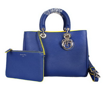 Dior Diorissimo Bag in Nappa Leather D0902 Blue