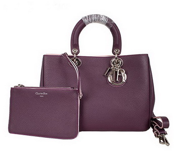 Dior Diorissimo Bag in Nappa Leather D0902 Purple