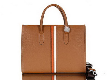 Hermes Mens Briefcase Calf Leather 95518 Camel