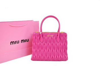miu miu Matelasse Nappa Leather Three Pocket Bag RN0941 Peach