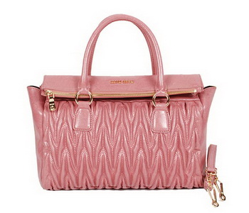 miu miu Matelasse Nappa Leather Top-handle Bag 88201 Pink