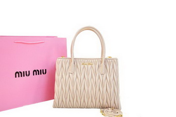 miu miu Matelasse Nappa Leather Three Pocket Bag RN0941 Light Pink