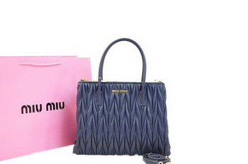 miu miu Matelasse Nappa Leather Three Pocket Bag RN0941 RoyalBlue