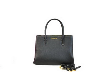 miu miu Original Leather Three Pocket Bag RN0941 Black