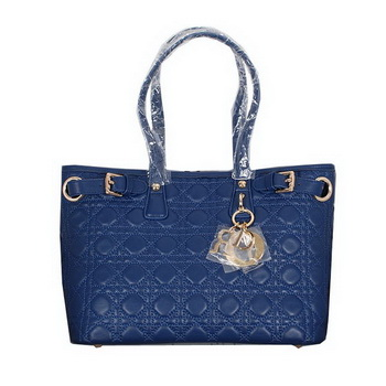 Dior Soft Tote Bag in Sheepskin D3009 Blue