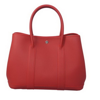 Hermes Garden Party 36CM Bag Calf Leather Red