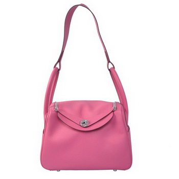 Hermes Lindy 30CM Havanne Shoulder Bag Rose