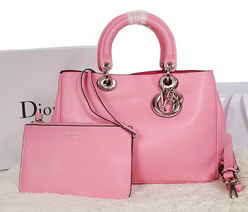 Dior Diorissimo Bag in Smooth Calfskin Leather D0902 Pink