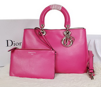 Dior Diorissimo Bag in Smooth Calfskin Leather D0902 Rose