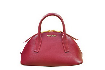 miu miu Original Leather Top-handle Bag RN0091 Burgundy
