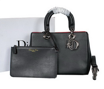 Dior Diorissimo Bag in Original Leather D0902 Black