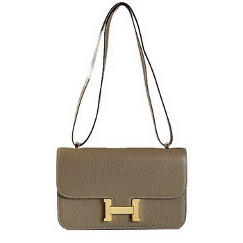 Hermes Constance Bag Dark Grey Grainy Leather 9999 Gold