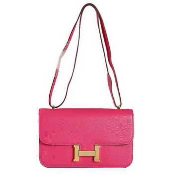 Hermes Constance Bag Peach Grainy Leather 9999 Gold