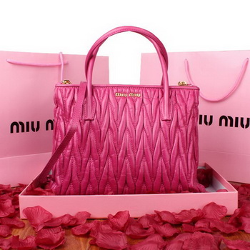 miu miu Matelasse Original Leather Three Pocket Bag RN0941 Rose