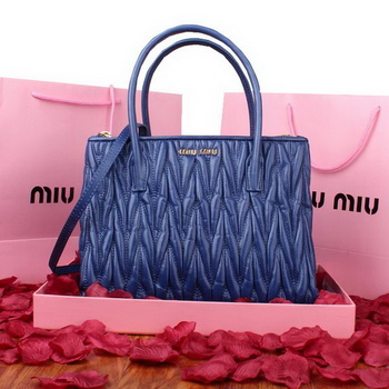 miu miu Matelasse Original Leather Three Pocket Bag RN0941 RoyalBlue