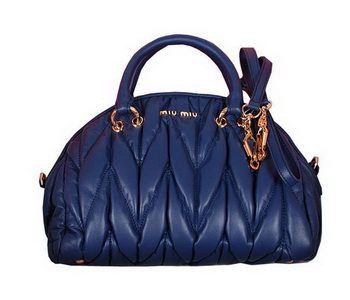miu miu Matelasse Nappa Leather Boston Bag RL1023 RoyalBlue