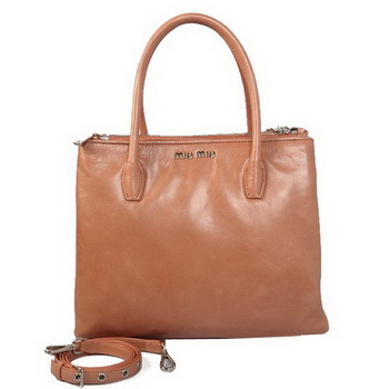miu miu Matelasse Bright Leather Three Pocket Bag RN0941 Apricot