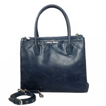 miu miu Matelasse Bright Leather Three Pocket Bag RN0941 RoyalBlue