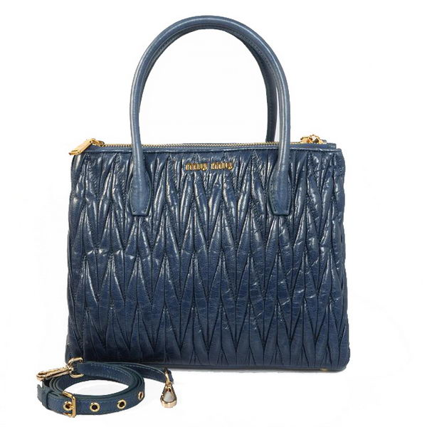 miu miu Matelasse Original Bright Leather Three Pocket Bag RN0941 RoyalBlue