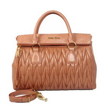 miu miu Matelasse Original Bright Leather Top-Handle Bag RN0947 Apricot