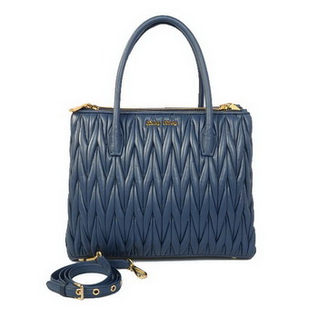 miu miu Matelasse Sheepskin Leather Three Pocket Bag RN0941 RoyalBlue