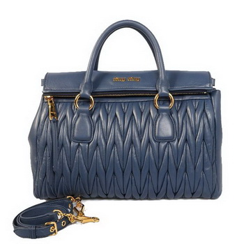 miu miu Matelasse Sheepskin Leather Top-Handle Bag RN0947 RoyalBlue