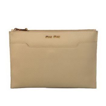 miu miu Original Leather Clutch 338900 Apricot