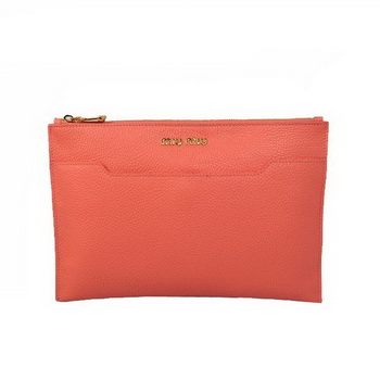 miu miu Original Leather Clutch 338900 Light Red