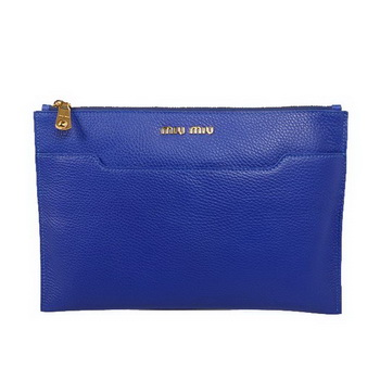 miu miu Original Leather Clutch 338900 Violet