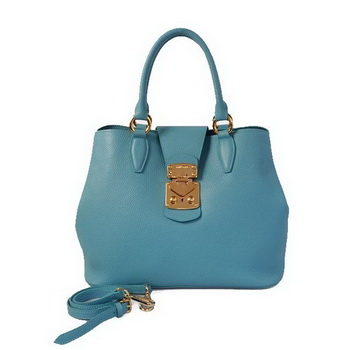 miu miu Original Leather Tote Bag 338908 Light Blue