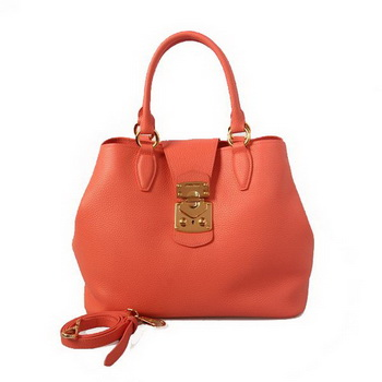 miu miu Original Leather Tote Bag 338908 Light Red