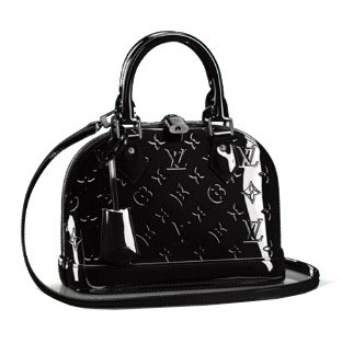 Louis Vuitton Monogram Vernis Alma BB M90063 Noir Magnetique