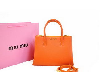 miu miu Original Leather Three Pocket Bag RN0941 Orange