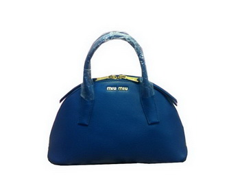 miu miu Original Leather Top Handle Bag RN0091 RoyalBlue
