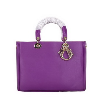 Dior Diorissimo Bag in Original Leather D0902 Purple